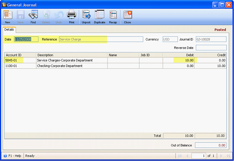 how to add bank account to payment journal