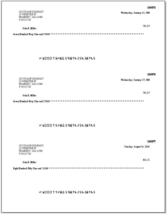 Payroll Check Formats – Paycheck Format